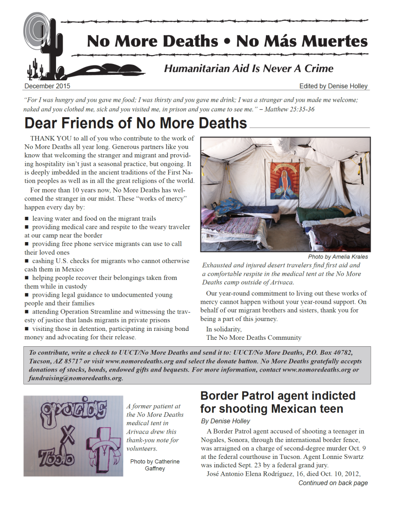 Holiday newsletter - click to download
