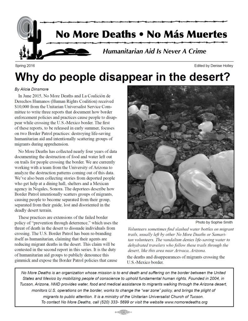 ¿Por qué desaparece gente en el desierto?