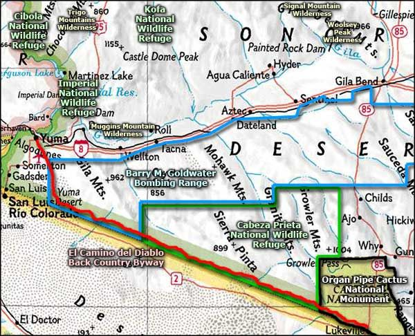 Map Of Southwest Arizona.Waternotwalls No More Deaths No Mas Muertes