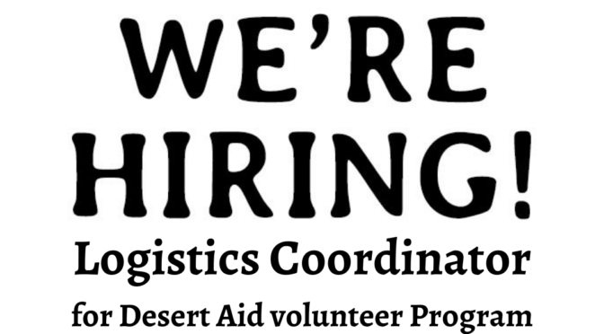 Position Available – Logistics Coordinator / puesto de coordinador de logística disponibles
