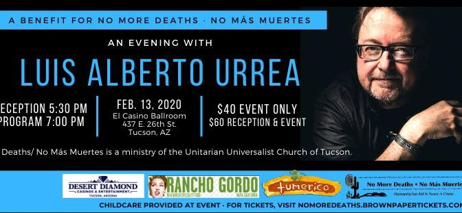 An Evening with Luis Alberto Urrea – Sold Out